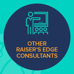 There are a variety of Raiser's Edge training consultants with different areas of expertise.