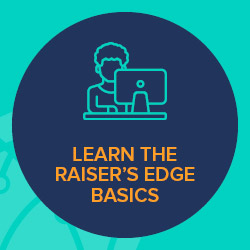 Through Blackbaud's Learn Basics program, your nonprofit can gain access to supplementary Raiser's Edge training resources, such as online videos.