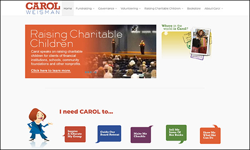 Carol Weisman's nonprofit consulting services are a smart choice for any organization.