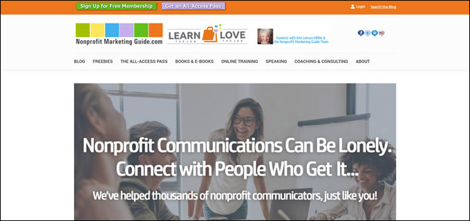 Check out Kivi Miller's nonprofit marketing consulting for communications coaching.