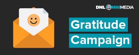 Gratitude campaigns are a type of nonprofit email marketing.