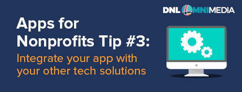 This is our third tip with regards to apps for nonprofits.