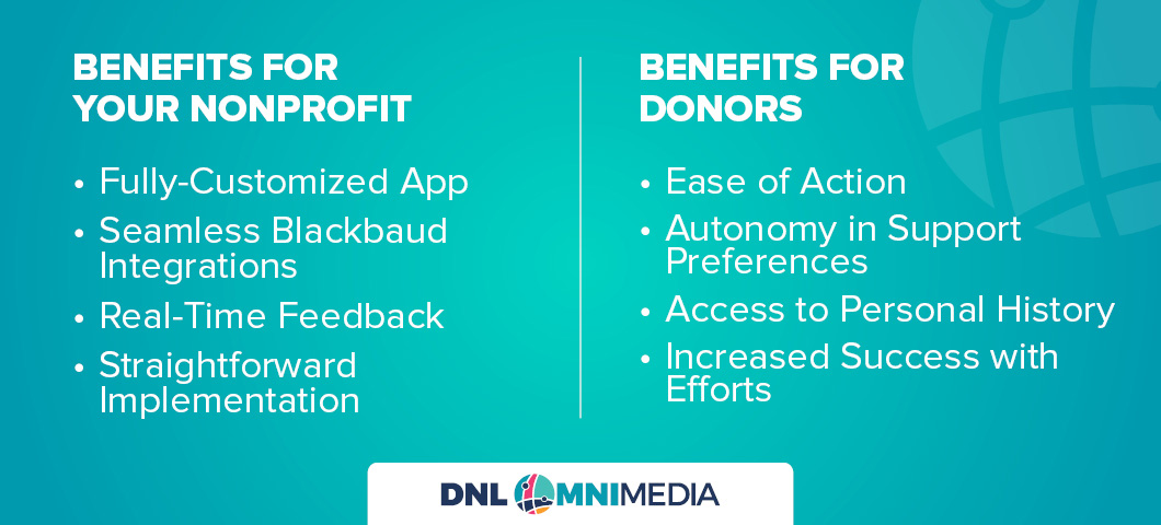 These are the benefits of MobileAction! for your nonprofit and donors alike.