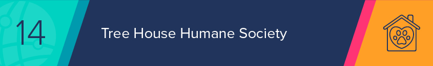 Tree House Humane Society's nonprofit website includes intuitive integrated features.