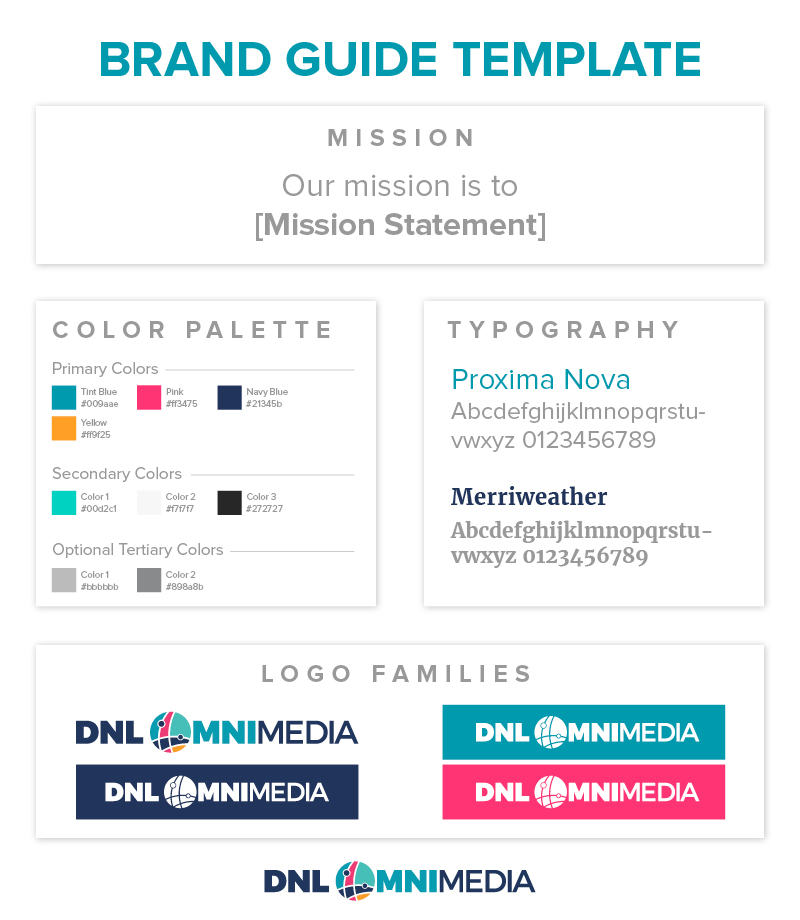 This is a template you can use for your nonprofit branding guidelines.