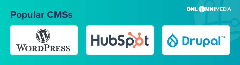 WordPress, Hubspot, and Drupal are three popular CMS platforms that you can use in your first web build project.