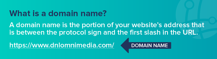 This image depicts the domain portion of your website's domain name.