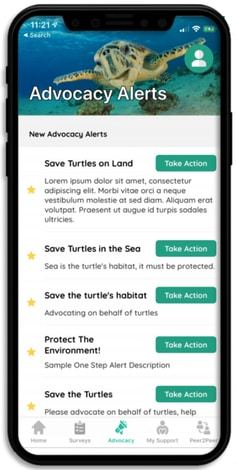 Advocacy apps can push action alerts to users and keep them engaged with the newest updates.