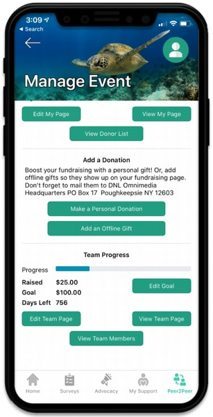 Your advocacy app should include fundraising tools, ideally an integration with your peer-to-peer fundraising platform.