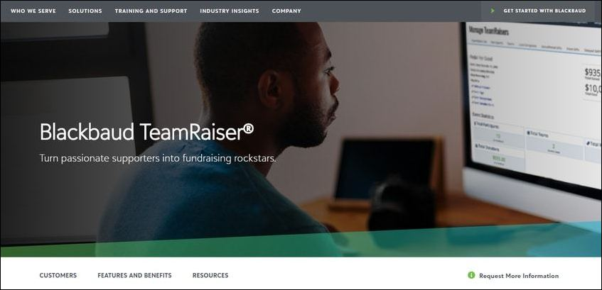 TeamRaiser is Blackbaud's most comprehensive P2P solution.