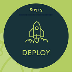 Step 5. Deploy your nonprofit technology solution.