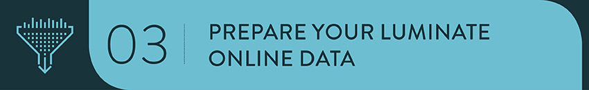 Prepare your data before migrating to Luminate Online.