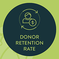One of the most vital analytics for nonprofits, your donor retention rate shows you how many supporters continue to give year-over-year.