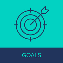 Start your nonprofit digital strategy by determining your large and small goals.