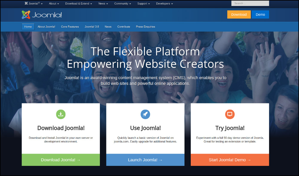 Joomla is one of the best nonprofit website builders, with a simple interface that any organization can use.